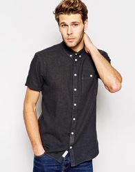 Minimum Linen Shirt Short Sleeves Black