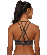 Hard Tail Double Cross Bra Granite Black Skeleton Women's Bra
