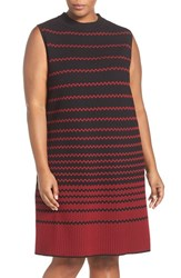 Nic Zoe Plus Size Women's 'Fall Fever' Sleeveless Texture Knit Shift Dress