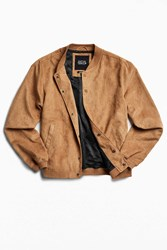 Native Youth X Uo Faux Suede Bomber Jacket Brown