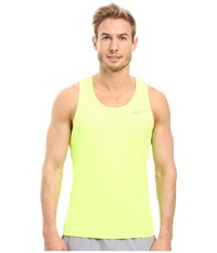 Nike Dri Fit Contour Running Singlet Volt Reflective Men's Workout Yellow