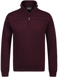 Oscar Jacobson Men's Orson Lined Half Zip Jumper True Red