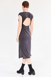 Silence And Noise Jensen Cutout Midi T Shirt Dress Black