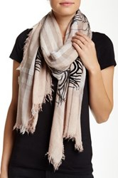 Leigh And Luca Peacock Rectangle Eyelash Scarf Gray