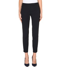 Reiss Joanne Stretch Crepe Trousers Navy