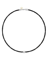 Alor Diamond Black Cable Choker Necklace 17