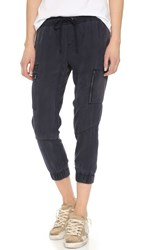 Pam And Gela Tencel Cargo Pants Navy