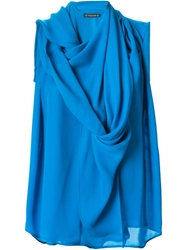 Plein Sud Jeans Plein Sud Draped Sleeveless Top