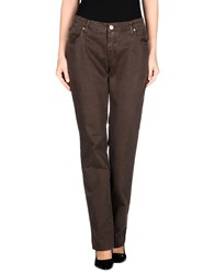 Blue Luxury Denim Denim Trousers Women Dark Brown