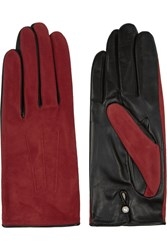 Agnelle Silk Lined Suede And Leather Gloves