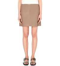 Warehouse Faux Leather Pocket Skirt Brown