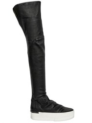 Cinzia Araia 50Mm Stretch Leather Boot Sneakers