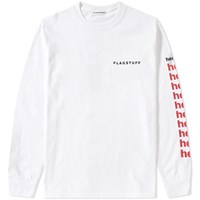 Flagstuff F Lagstuf F Long Sleeve Hell Tee White