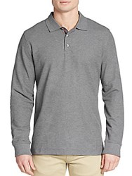 Robert Graham Classic Fit Aherne Polo Shirt Heather Grey