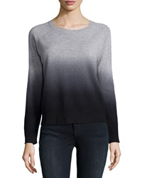 360Cashmere Cashmere Skull Ombre Sweater Heather Gray