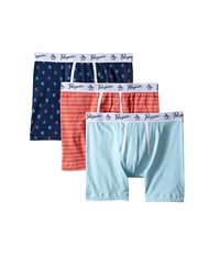 Original Penguin 3 Pack Boxer Brief Navy Ligh Blue Coral Men's Underwear Multi