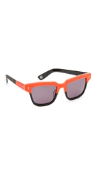 Opening Ceremony Dart Sunglasses Neon Orange Multi Black