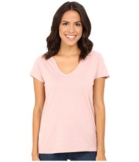 Alternative Apparel Cotton Modal Everyday V Neck Rose Quartz Women's Clothing Pink