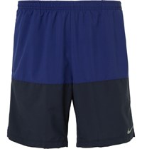 Nike Running 7 Distance Colour Block Dri Fit Shorts Blue