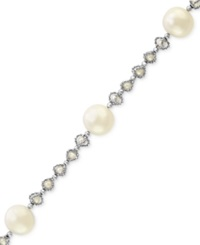 Effy Collection Pearl Lace By Effy Cultured Freshwater Pearl Cage Tennis Bracelet In Sterling Silver 3 1 2Mm