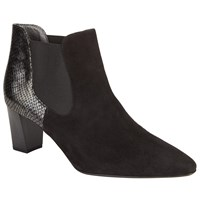Peter Kaiser Magda Block Heeled Ankle Boots Black