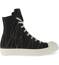 Drkshdw Stitched High Top Trainers Blk White