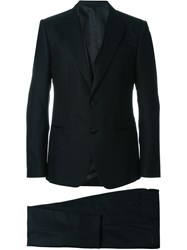 Dolce And Gabbana Three Piece Patterned Tuxedo Black