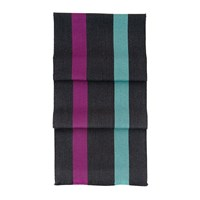 Aspinal Of London University Stripe Scarf Charcoal