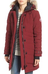 Canada Goose Women's 'Lorette' Hooded Down Parka With Genuine Coyote Fur Trim Niagara Grape