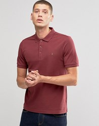 Farah Polo Shirt In Regular Fit In Port Port Red
