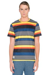 Native Youth Heatwave Stripe Tee Yellow