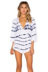 Blue Life Wild And Free Romper White