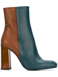 Jil Sander Bicolour High Boots Blue