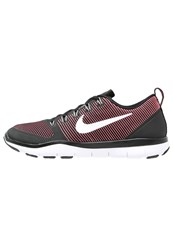 Nike Performance Free Train Versatility Sports Shoes Black White Action Red