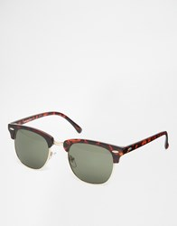 Selected Homme Square Sunglasses Brown