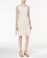 Styleandco. Style And Co. Petite Lace Godet Sleeveless Dress Only At Macy's Vintage Cream