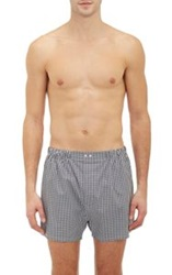 Barneys New York Gingham Check Boxer Shorts Black Size L