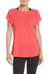 Zella Women's Arabesque Convertible Tee Coral Poppy