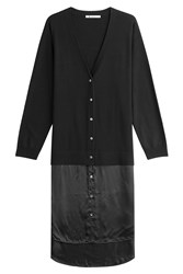 Alexander Wang T By Merino Wool Cardigan Black