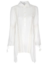 True Decadence Lace Insert Blouse Cream
