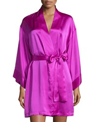 Josie Natori Lolita Belted Short Robe Purple Haze
