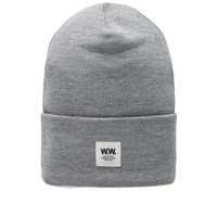 Wood Wood Gerald Tall Beanie Grey