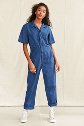 Urban Renewal Vintage Short Sleeved Lightweight Coverall Navy
