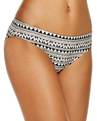 Laundry By Shelli Segal Maharaji Border Hipster Bikini Bottom Black