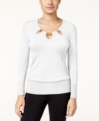 Thalia Sodi Cutout Hardware Sweater Only At Macy's Cloud