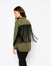 Blank Nyc Shirt With Back Fringe Mont