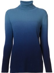 Lafayette 148 New York Degrade Effect Pullover Blue