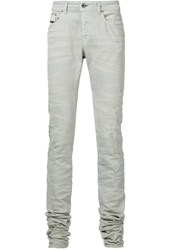 Diesel Black Gold Whiskered Extra Long Jeans Nude And Neutrals