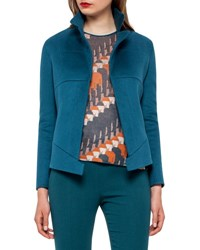 Akris Hello Seamed Cashmere Jacket Seabiscuit
