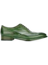 Paul Smith 'Christo' Brogue Shoes Green